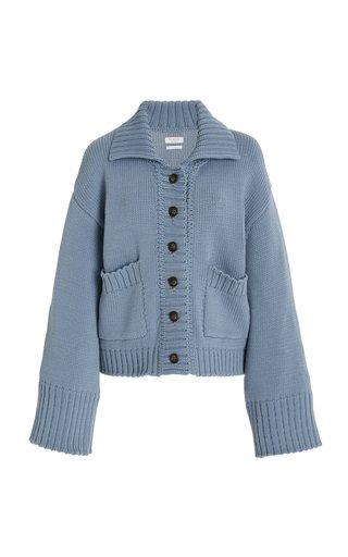 Thea Cotton-Blend Knit Cardigan