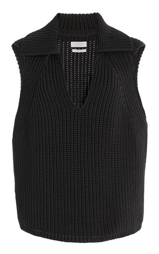 Aubrey Cotton-Blend Sweater Vest