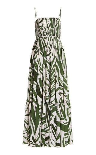 Kalal Abstract-Print Crepe Maxi Dress