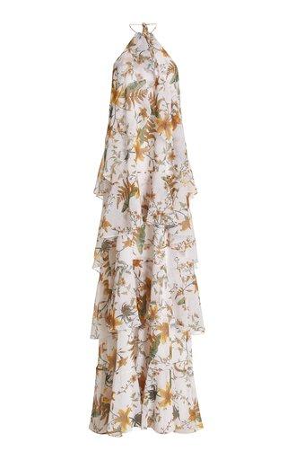 Woumani Tiered Chiffon Maxi Dress