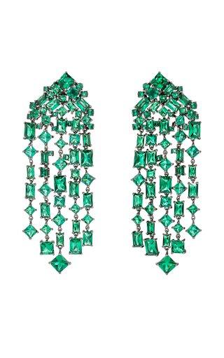 Emerald Cascade Earrings