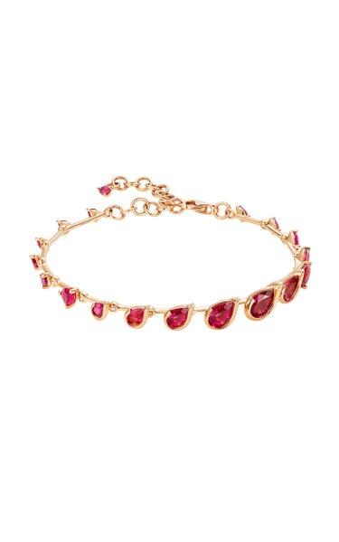 Flicker 18K Rose Gold Rubellite Bracelet