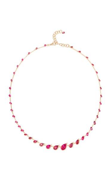 Flicker 18K Rose Gold Rubellite Necklace