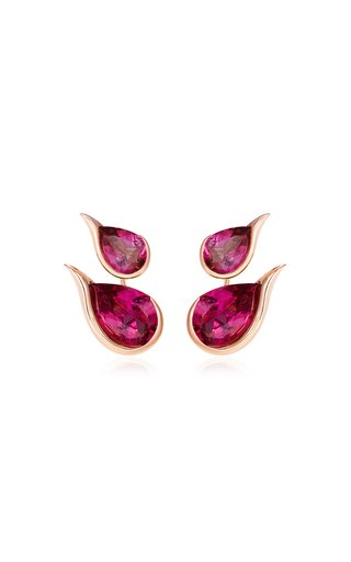 Ignite 18K Rose Gold Rubellite Earrings