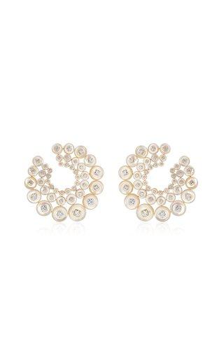 Galaxy 18K Yellow Gold Diamond, Mother-Of-Pearl Earrings