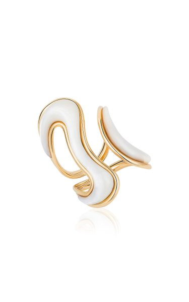 Stream 18K Yellow Gold Mother-Of-Pearl Ring