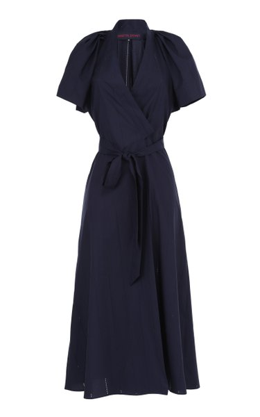 Belted Cotton Wrap Dress
