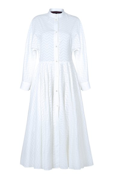 Zig-Zag Cotton Shirt Dress