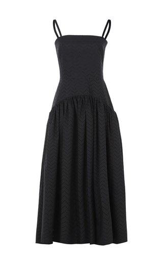 Drop-Waist Cotton Maxi Dress