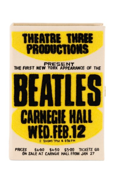Beatles NY Poster Book Clutch