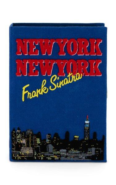 Sinatra New York Book Clutch
