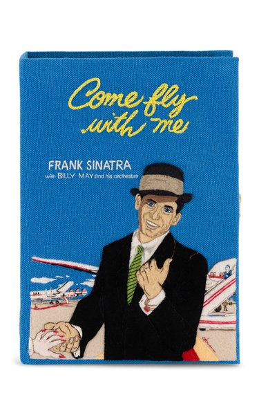 Sinatra Come Fly With Me Book Clutch