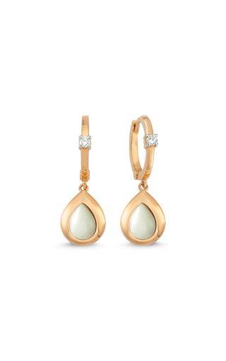 Memory 14K Rose Gold Diamond, Mother-Of-Pearl Earrings