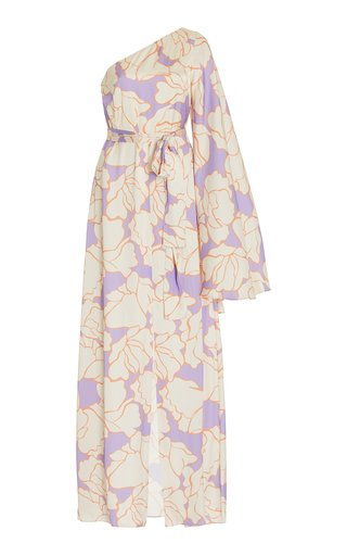 Leonette Asymmetric Printed Maxi Dress