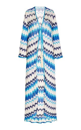 Silmani Chevron-Knit Robe