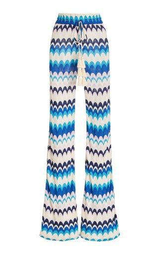 Dixion Chevron-Knit Flared Pants