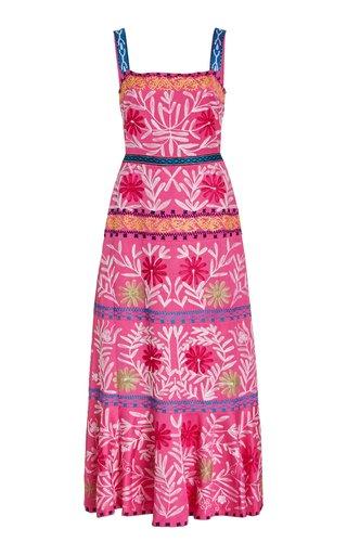 Alora Embroidered Midi Dress