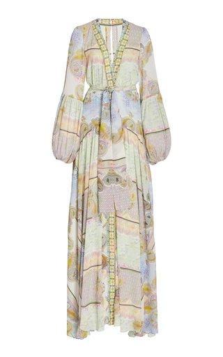 Olessia Printed Gauze Maxi Dress