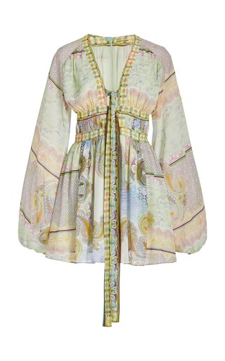 Tessie Printed Gauze Mini Dress