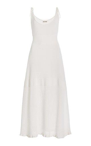 Kacen Pointelle-Knit Midi Dress