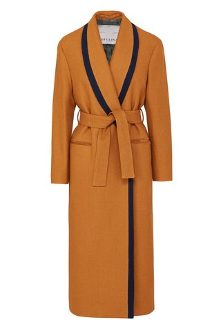 The Linda Belted Cotton-Blend Robe