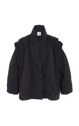 Stan Oversized Quilted Cotton-Twill Jacket