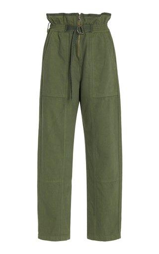 Stan Sandwash Belted Twill Straight-Leg Pants