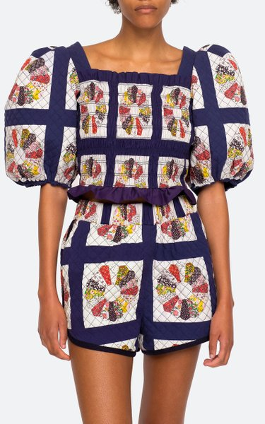 Pippin Patchwork-Printed Cotton Top