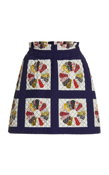 Pippen Quilted Cotton Mini Skirt