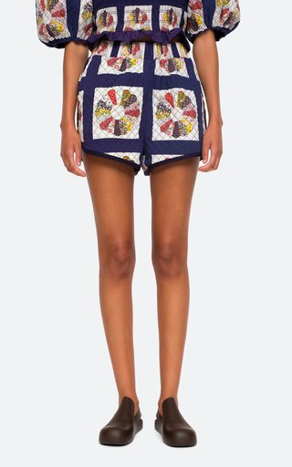 Pippen Patchwork Quilted Cotton Shorts
