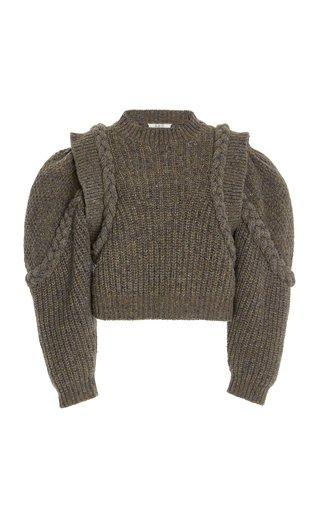 Giada Braided Wool-Blend Sweater