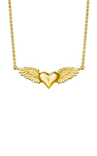 Flying Heart 18K Yellow Gold Necklace
