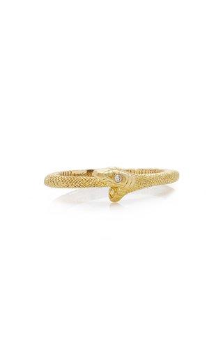 Ouroboros Snake 18K Yellow Gold Diamond Ring