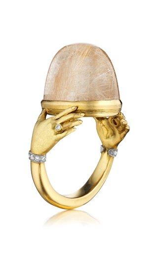 Adorned Hands 18K Yellow Gold Quartz Ring