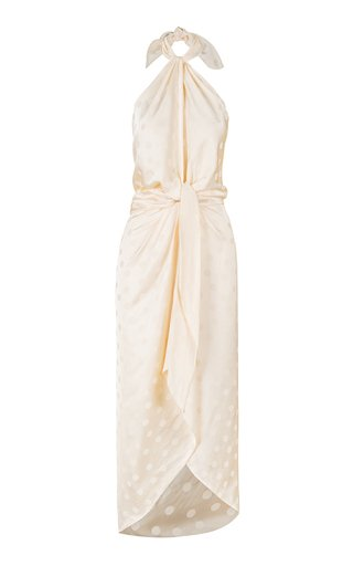 Conga For The Soul Satin Midi Dress