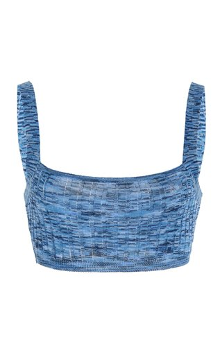 Horizon Ribbed-Knit Bralette Top