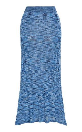 Horizon Ribbed-Knit Midi Skirt