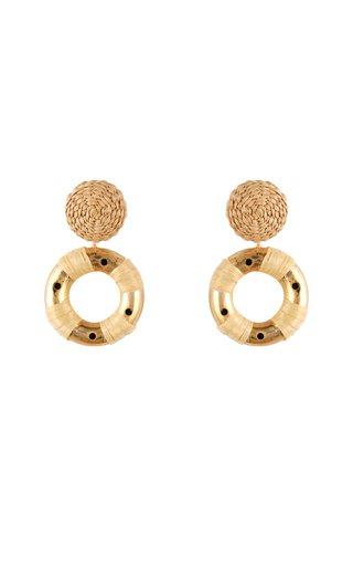 Spanish Sahara Gold-Plated Palm Earrings