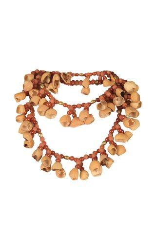 Agate Folk Beaded Brass Medicine Necklace