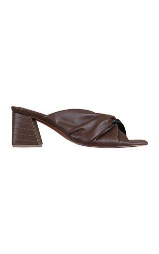 Exotic Taste Leather Slide Sandals
