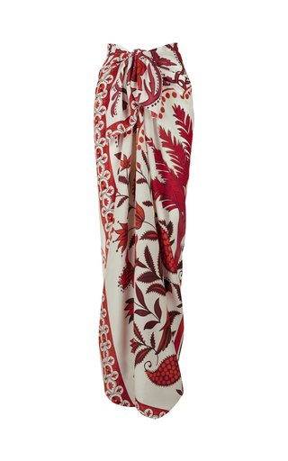 Magic in the Details Printed Silk Pareo
