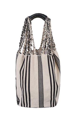 Solo Voyaging Striped Cotton Tote Bag