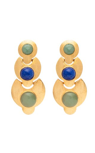 Exclusive Stone Embellished Statement Earrings
