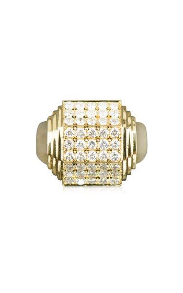 Art Deco 33 18K Yellow Gold Diamond Ring