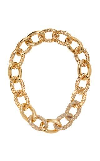 Tiger Links 14K Yellow Gold Diamond Bracelet