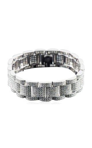 Link 18K White Gold Diamond Bracelet