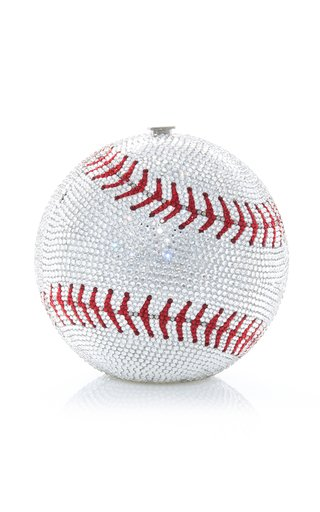 Baseball Crystal-Embellished Clutch