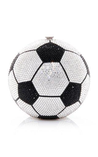 Soccer Crystal-Embellished Clutch