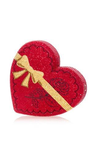 Heart Crystal-Embellished Clutch