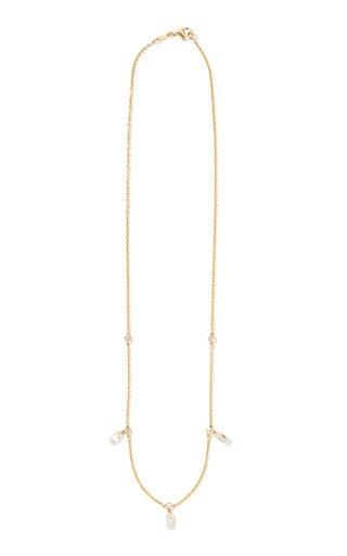 Classic 18K Yellow Gold Diamond Necklace